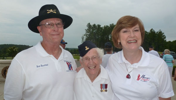 Col. Bob Barefield, U.S. Army (retired) and chairman of the Support Committee of the Alabama National Cemetery is co chair of the Keep the Spirit of '45 Alive on Aug. 8. WWII Wave Frances Phelps will give the invocation and Honor Flight Birmingham Director Pam Nichols will be Master of Ceremonies. Pictured are Barefield, Phelps and Nichols. (Contributed)