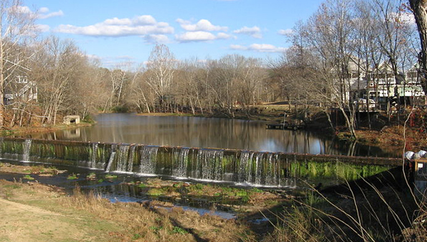 Between 3,000 and 4,000 gallons of sewage overflowed into Buck Creek after a power outage at the Pelham Wastewater Plant. (Contributed)