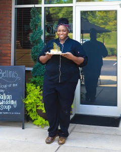 Pastry chef Amber Croom has been with Bellini's since January 2013. (For the Reporter / Dawn Harrison)