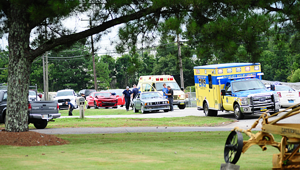 The Columbiana Police Department, Shelby County Sheriff's Office and Southeast Shelby County Rescue responded to a wreck on Alabama 70 at about 12:30 p.m. on July 24. (Reporter Photo/Neal Wagner)