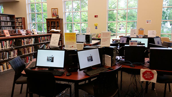 The Parnell Memorial Library in Montevallo recently received 13 new computers and monitors for library visitors to use. (Contributed)