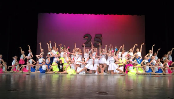 Dance South Studio competition team members pose at the end of the 25th anniversary recital. (Contributed)