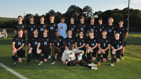 Helena Huskies goalkeeper Phildon Dublin (sitting front) represented Helena in the AHSAA All-Star Soccer game on Tuesday, July 21, where he was named MVP for the North team after recording two saves on the South team's only two shots on goal. (File)