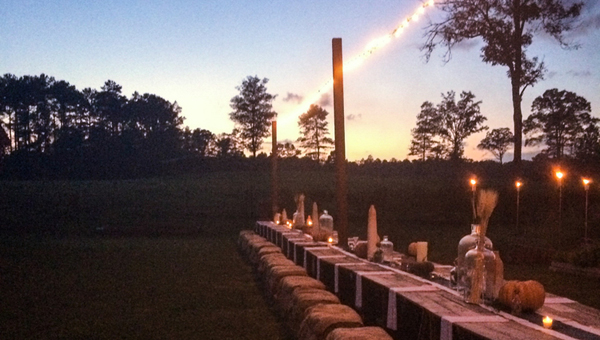 Stop by Stone Hollow Farmstead on July 18 for the first edition of the Tomato Festival, from 1 p.m. to 5 p.m. Following the festival, a dinner prepared from locally-sourced ingredients will be served on the farm table, pictured here. (Contributed)