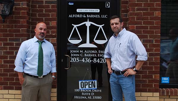 Attorneys John Alford and John Barnes recently moved their general practice law firm, Alford & Barnes, LLC to Helena. (Reporter Photo/Graham Brooks)