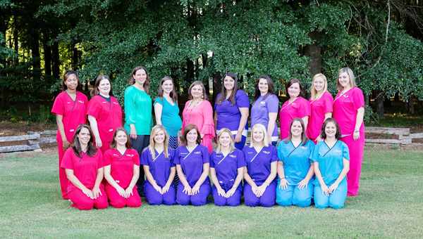 Sylacauga-based Pathway Pediatrics opened a second clinic in Chelsea in late June. The staff includes co-owners Dr. Leslie Sawyer and Megan Moore, PA-C, registered nurse and lactation consultant Megan Epperson, and other registered nurses and office employees. (Contributed)