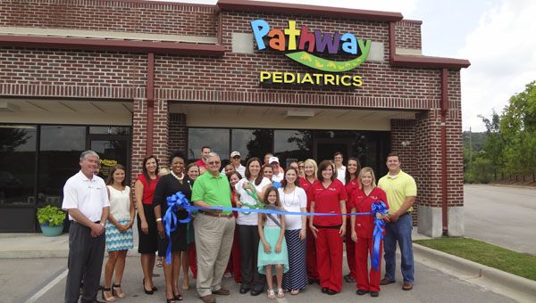 Pathway Pediatrics, a new children's clinic in Chelsea, celebrated its grand opening with a ribbon cutting on July 16. (Reporter Photo/Emily Sparacino)