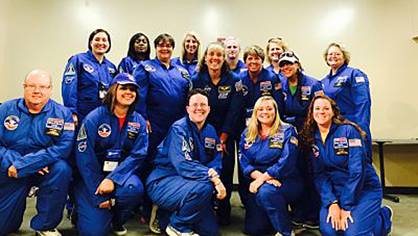 Several teachers from the Shelby County and Pelham schools recently attended Space Academy. (Contributed)