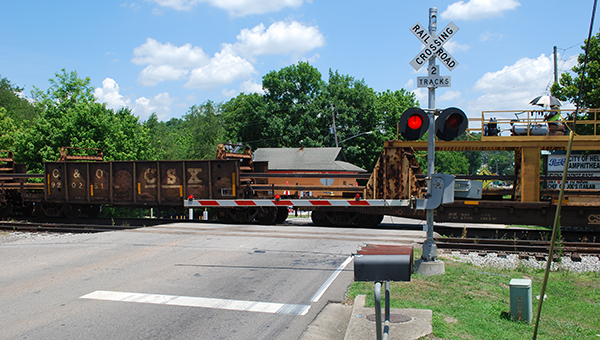 Helena City Council members discussed the possibility of installing a pedestrian crossing at the railroad tracks in Old Town Helena during their July 6 pre-council work session. (File)