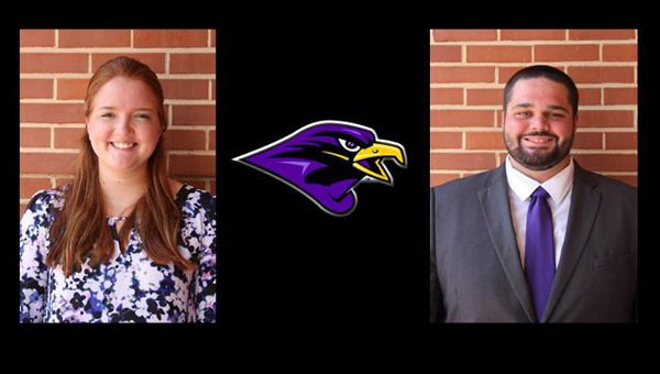 The Montevallo athletic training staff has added Maureen Wood and Trey Hollar to their staff for the upcomming school year. (Contributed)