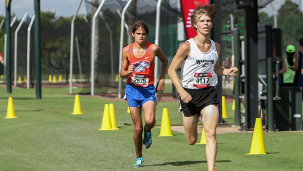 Conner Murphy, front, will be one of the leaders for a Thompson cross-country team hoping to break into the upper echelon of the tough 7A Section 3. (Contributed)