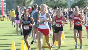 Jessie Puckett, front, will be one of Thompson's top senior runners this cross-country season. (Contributed)