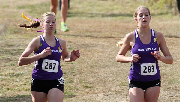 Cheyenne Thompson, left, and Katie Nelson will lead the way for the Montevallo women's cross-country team, which is ranked No. 1 in the Peach Belt Conference preseason poll. (Contributed)