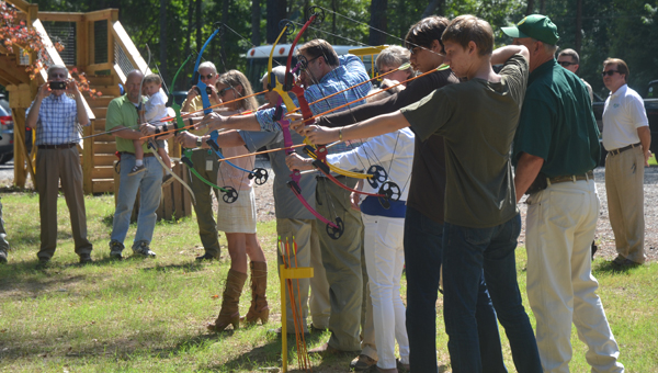 The archery park at Oak Mountain State Park officially opened Aug. 4 with a ceremonial ribbon cutting and the first shots. (Reporter Photo / Jessa Pease)
