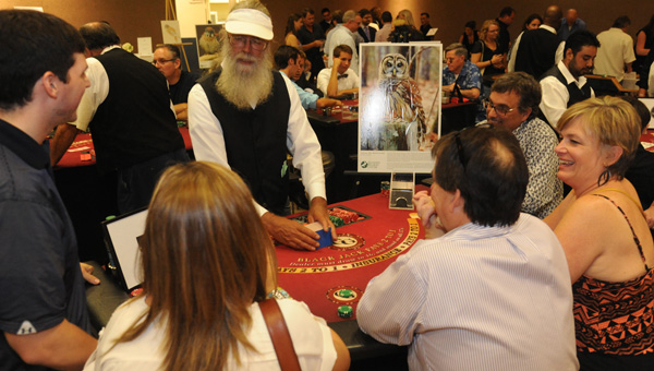 Guests at last year's Chirps and Chips enjoy a game of black jack. (Contributed)