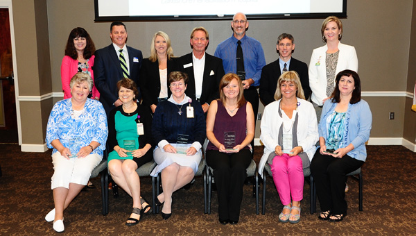 Healthcare professionals in the Greater Shelby County area were recognized for excellence in 12 categories at the Greater Shelby County Chamber of Commerce luncheon Aug. 26. (Reporter photo / Neal Wagner)