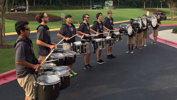 Pelham City Schools' teachers, faculty and staff joined togehter for a system-wide Institution Day Aug. 6 at the Pelham Civic Complex. The event kicked-off with a performance by the Pelham High School percussion line. (Contributed)