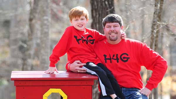 Gabe Griffin, pictured with his father Scott, is the inspiration behind the upcoming cross-country Ride4Gabe bike ride. (File)