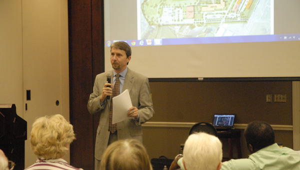 City Council President Rick Hayes presented the strategic plan for the expansion of Pelham City Park. (Reporter photo / Jessa Pease)