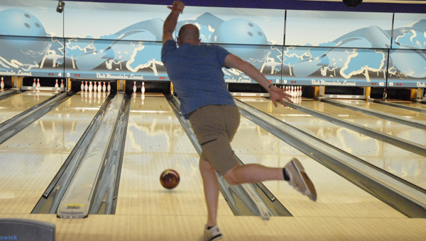 Fire and police representatives from Alabaster, Pelham, Helena, Calera, the Shelby County Sheriff's Office and the District Attorney's Office competed in The Wings of Hope bowling tournament. (Reporter photo / Jessa Pease)