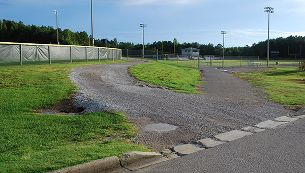 The Helena youth football and soccer fields will soon be getiing new concrete sidewalks. (Reporter Photo/Graham Brooks)