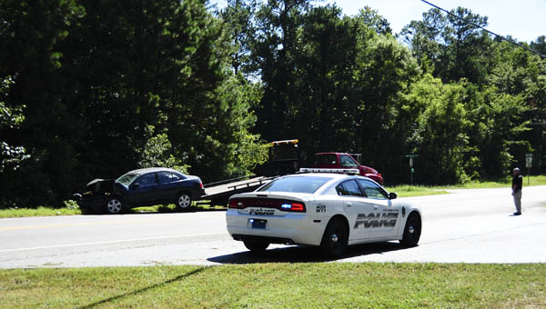 Two people were taken to the hospital for non life-threatening injuries after a two-vehicle crash on Aug. 3 on Alabama 70 near the Shelby County Department of Human Resources. (Reporter Photo/Emily Sparacino)
