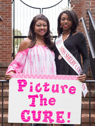 """Miss Shelby Outstanding Teen 2016 Kyra Callens, a junior at Oak Mountain High School, is sponsoring a fundraiser for the Susan G. Komen Race for the Cure, a photogenic contest called, """"Picture The Cure"""" of breast cancer survivors. Pictured are Callens with her aunt and breast cancer survivor, Violet Smiley, the inspiration for her breast cancer MAO platform. (Contributed)"""