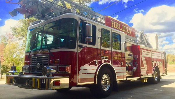 Pictured is the new 78 foot ladder truck the Helena Fire Department received to replace the aging 1993 model. (Contributed)