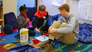 The OMHS mentors regularly visit both IES and OMES and help teachers with a variety of things. (Reporter Photo / Molly Davidson)