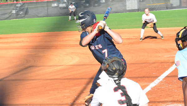 Carmyn Greenwood and the Oak Mountain Lady Eagles were 18-8 as of April 19 and in prime position to make a run in the 7A playoffs. (Reporter Photo / Baker Ellis)