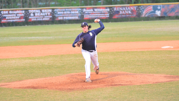 Sam Strickland and the Briarwood Christian Lions lost a pair of games to Oxford on April 22, knocking the Lions out of the 6A playoffs. (Reporter Photo / Baker Ellis)