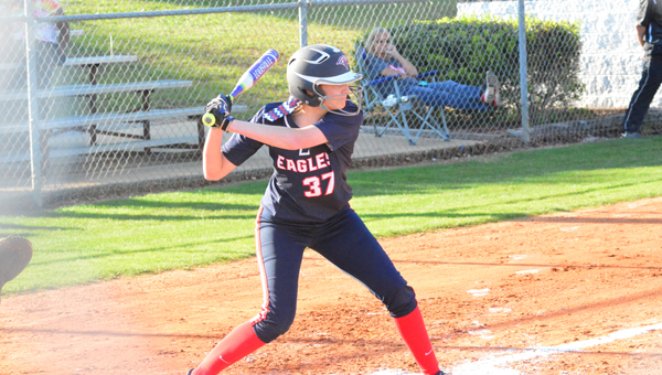 Abby Jones and the Oak Mountain Lady Eagles dropped a 4-3 game to Hoover on April 19 and will be the No. 2 seed in the 7A Area 5 tournament. (File)
