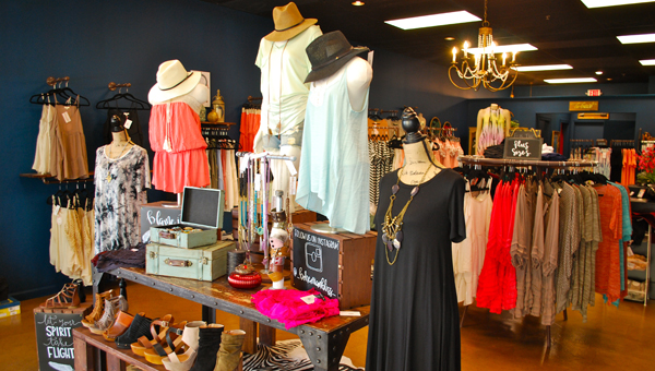 Bohemian Bliss Boutique in Lee Branch carries festival-style clothing for all sizes and body types. (Reporter Photo/Molly Davidson)