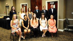 The chamber recognized 11 students as nominees for the College Ready Student of the Year. Payton Strickland was named the overall winner.