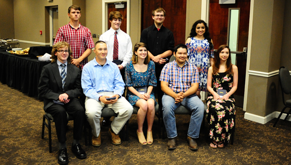 The Greater Shelby Chamber recognized 10 students as nominees for Career Ready Student of the Year at an April 27 luncheon. Also recognized were nominees for College Ready Student of the Year, Secondary Educator of the Year and Elementary Educator of the Year. (Reporter photo/Neal Wagner)