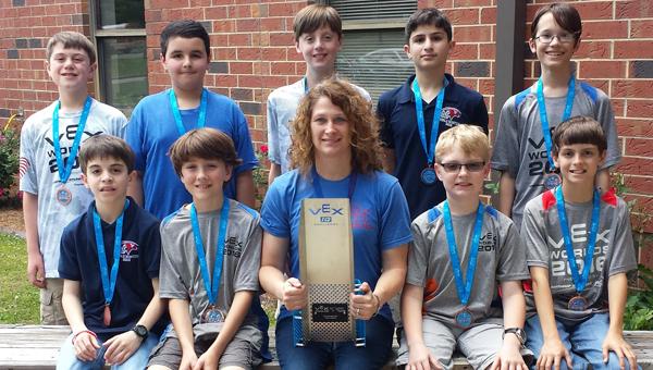 Oak Mountain Middle School teacher and robotics sponsor Sherri Whitehead was named the VEX IQ Teacher of the Year. (Contributed)