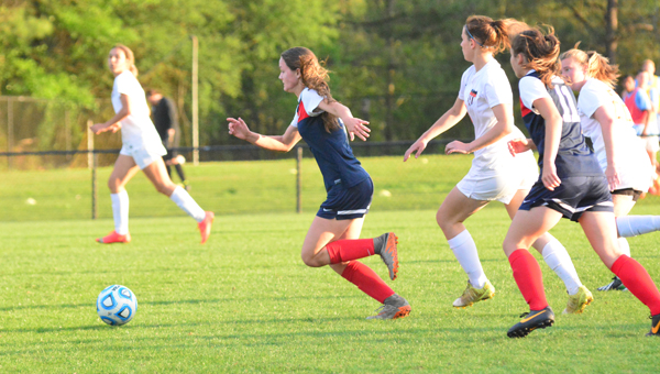 Oak Mountain sophomore Julia Pack scored 19 goals and had 17 assists in 2016 and has been named the Gatorade Player of the Year in the state of Alabama. (File)