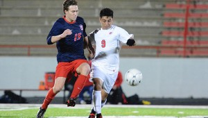 Oak Mountain's Christian Thomason (15) and Thompson's Diego Gutierrez (9) were both First Team All-Metro selections, and were both imperative to their teams' success this season. (File)
