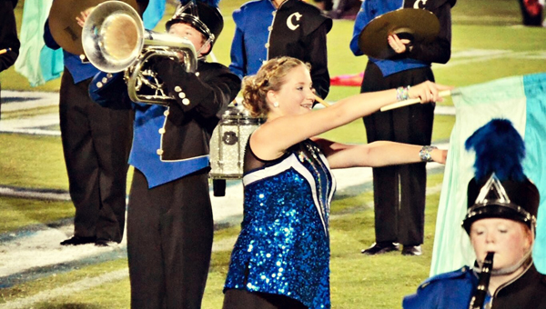 Calera High School's colorguard captain, Kaycee Lollar, has joined the University of North Alabama Pride of Dixie Marching Band's colorguard team. (Contributed)