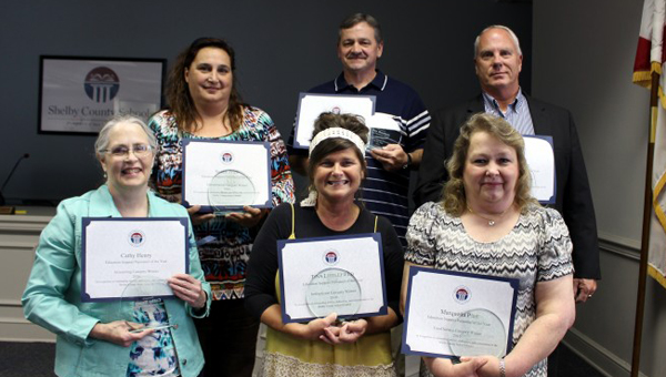 The Shelby County School System recognized outstanding educational support professionals of the year during a ceremony on May 5. (Contributed)