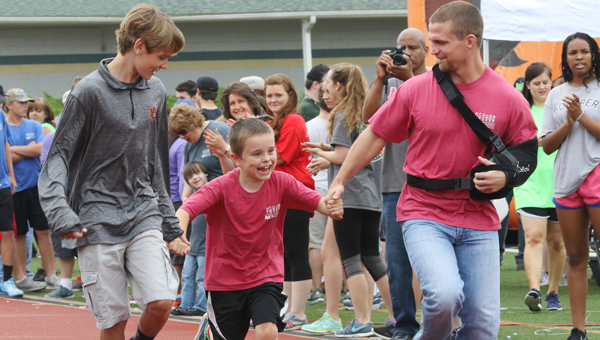 Alabaster and Pelham students join together for a day of fun and competition at the systems' second annual Special Olympics. (For the Reporter/Eric Starling)