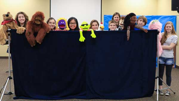About 10-20 students participate in the church's puppet ministry.