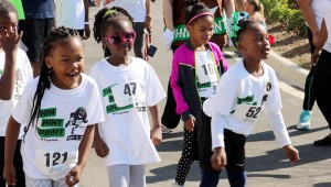 Racers warm up and get ready for the first Girl Scouts Thin Mint Sprint on May 7. (Contributed)