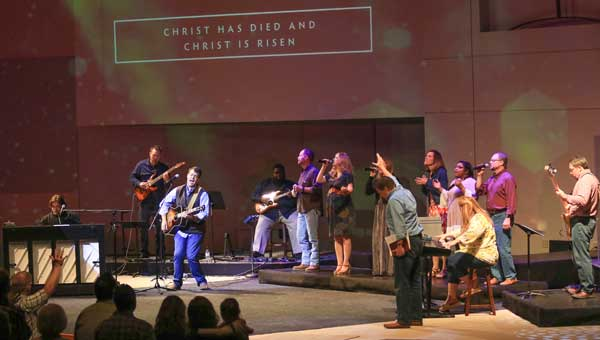 Worship leader Kevin Derryberry has taken the praise team out into the community and prisons to minister.