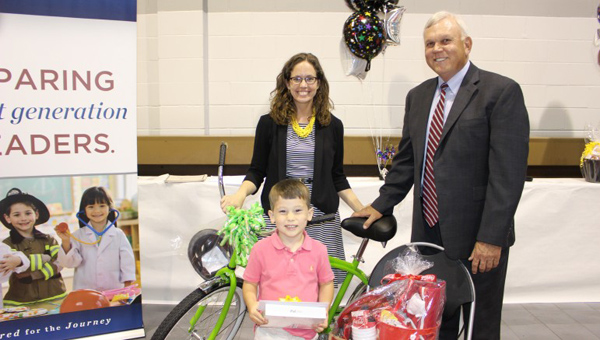 The Shelby County Schools Education Foundation named the top-selling students in this year's Coupons for Classrooms Campaign. Elvin Hill Elementary student Landon Starnes took first place by selling 114 books. (Contributed)