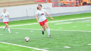 Thompson's Lauren Mayer started on the back line all four years of her high school career, and was a staple for the Lady Warriors over the last four years. (File)