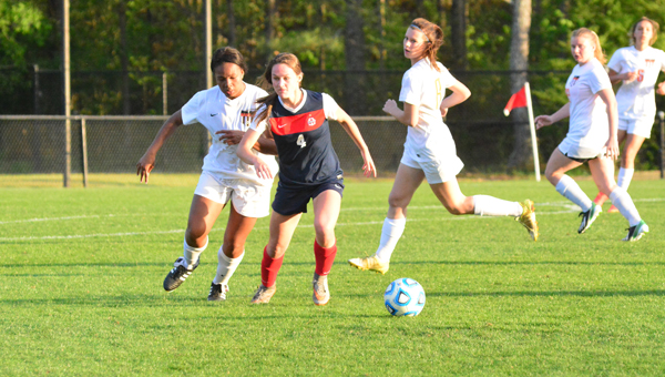 Oak Mountain's Julia Pack scored 19 goals and assisted on 17 more in her sophomore season, was named the Gatorade Player of the Year in the state of Alabama and is the 2016 Shelby County girls soccer Player of the Year. (File)