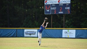Chelsea Powerhouse centerfielder Cooper Johnsey snags a shot to the outfield during the Summa Sizzla. (Contributed)
