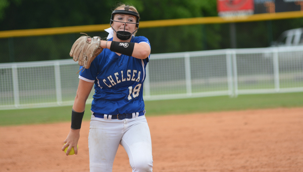 Chelsea's Sarah Cespedes pitched in 35 games this year for the Lady Hornets, finishing the year with a 22-8 record and 233 strikeouts as she helped lead Chelsea to the 6A state title. (File)