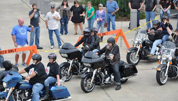 More than 250 bikers participated in the last year's inaugural Bama's Boots, Bands & Bikes II fundraiser. (Contributed)